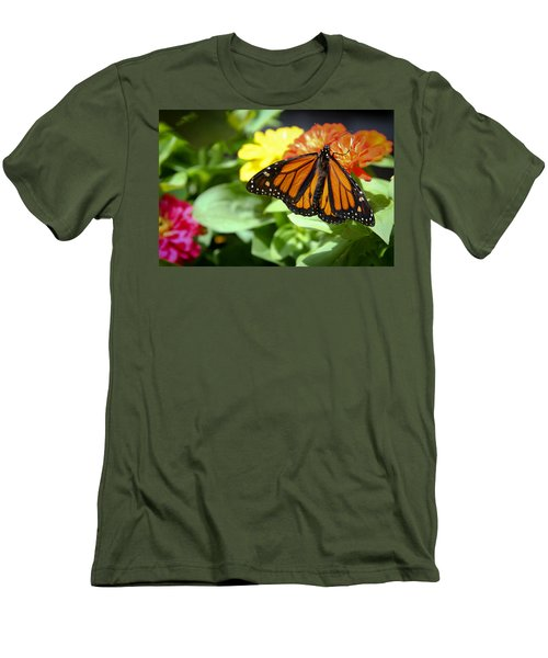 Men's T-Shirt (Slim Fit) featuring the photograph Beautiful Monarch Butterfly by Patrice Zinck