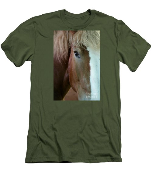 Men's T-Shirt (Slim Fit) featuring the photograph Beautiful Within Him Was The Spirit - 2 by Linda Shafer