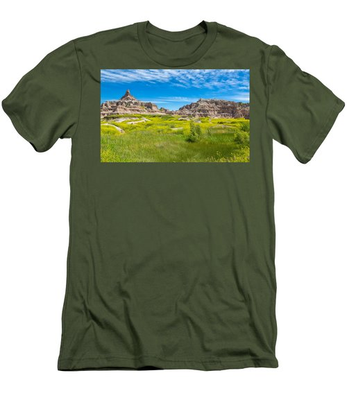 Men's T-Shirt (Athletic Fit) featuring the photograph Beauty And The Badlands by John M Bailey