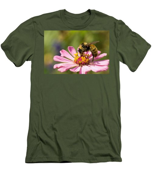 Men's T-Shirt (Slim Fit) featuring the photograph Bee At Work by Greg Graham