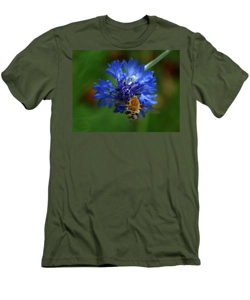 Men's T-Shirt (Slim Fit) featuring the photograph Bee by Leticia Latocki