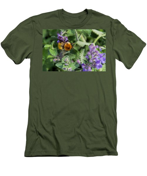 Men's T-Shirt (Slim Fit) featuring the photograph Bee Too by David Gleeson