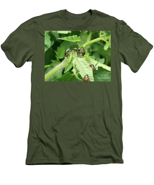 Men's T-Shirt (Slim Fit) featuring the photograph Beetle Posse by Thomas Woolworth