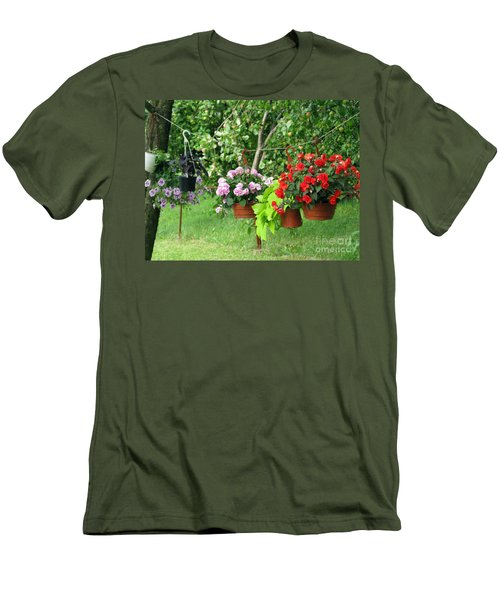 Begonias On Line Men's T-Shirt (Athletic Fit)