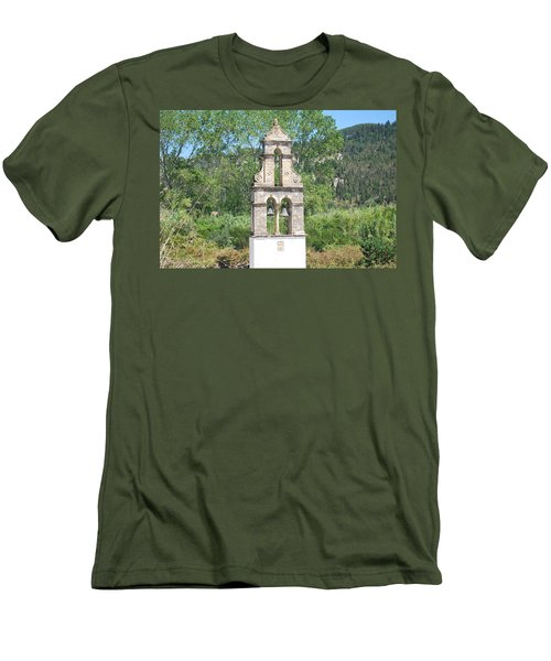 Men's T-Shirt (Slim Fit) featuring the photograph Bell Tower 1584 1 by George Katechis