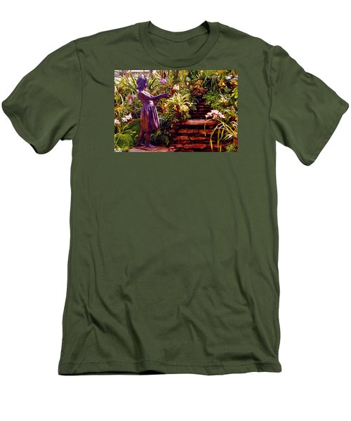 Between The Steps Men's T-Shirt (Slim Fit) by Daniel Thompson