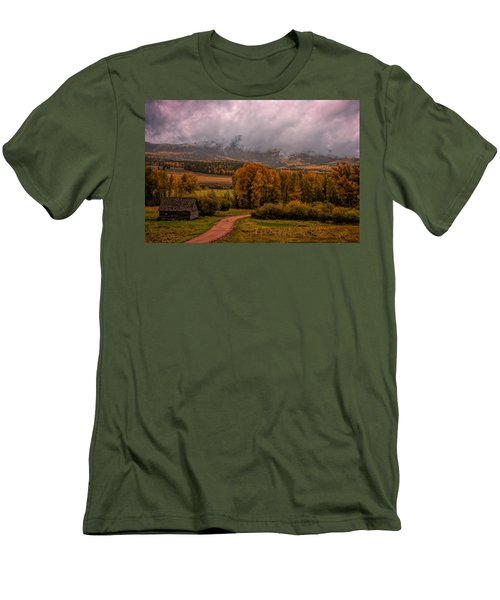 Men's T-Shirt (Slim Fit) featuring the photograph Beyond The Road by Ken Smith