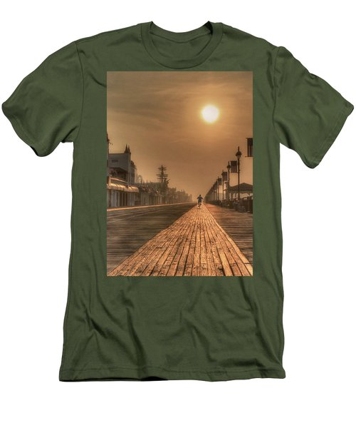 Bicycle Boardwalk Men's T-Shirt (Athletic Fit)