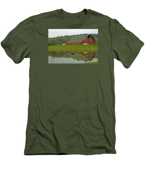 Men's T-Shirt (Slim Fit) featuring the photograph Big Red by Nick  Boren