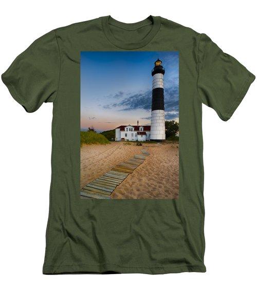 Big Sable Point Lighthouse Men's T-Shirt (Athletic Fit)