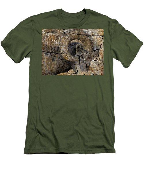 Bighorn Rock Art Men's T-Shirt (Slim Fit) by Steve McKinzie
