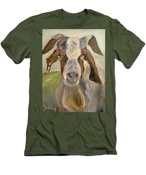 Men's T-Shirt (Slim Fit) featuring the painting Billy by Donna Tuten