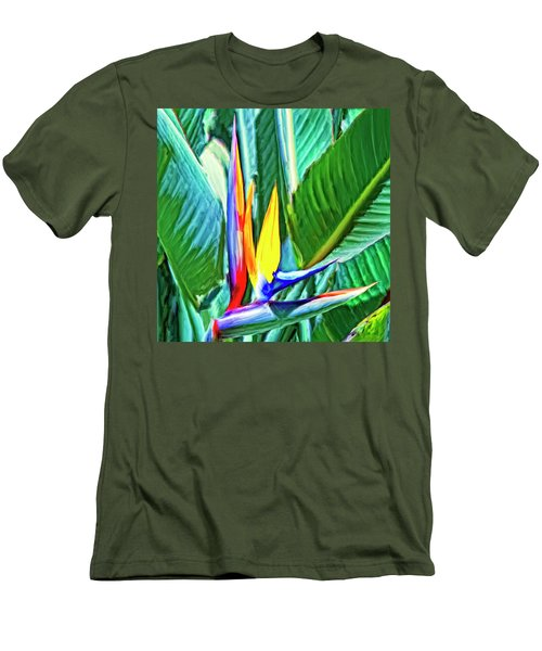 Bird Of Paradise Men's T-Shirt (Slim Fit) by Dominic Piperata
