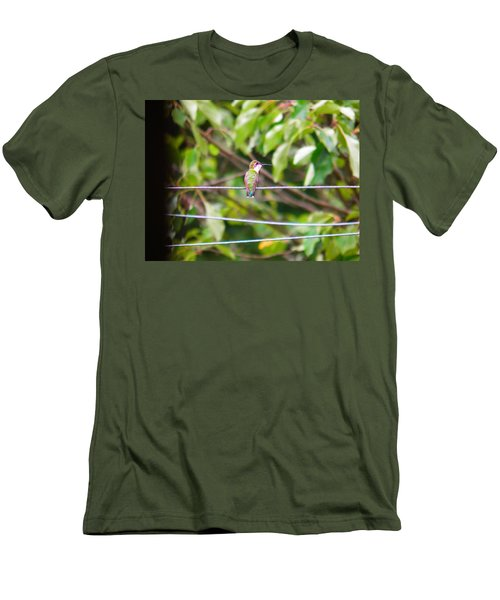 Men's T-Shirt (Slim Fit) featuring the photograph Bird On A Wire by Nick Kirby