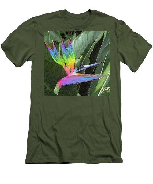 Men's T-Shirt (Athletic Fit) featuring the photograph Bird Ow  Paradise by Suzette Kallen
