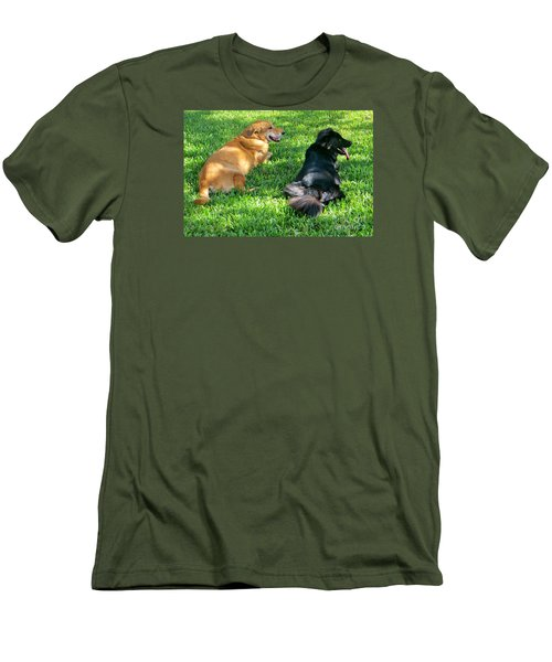 Black And Tan Men's T-Shirt (Athletic Fit)