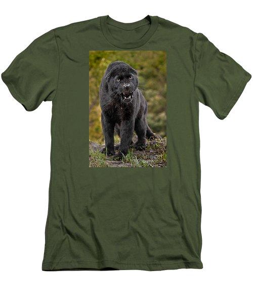 Black Panther Men's T-Shirt (Athletic Fit)