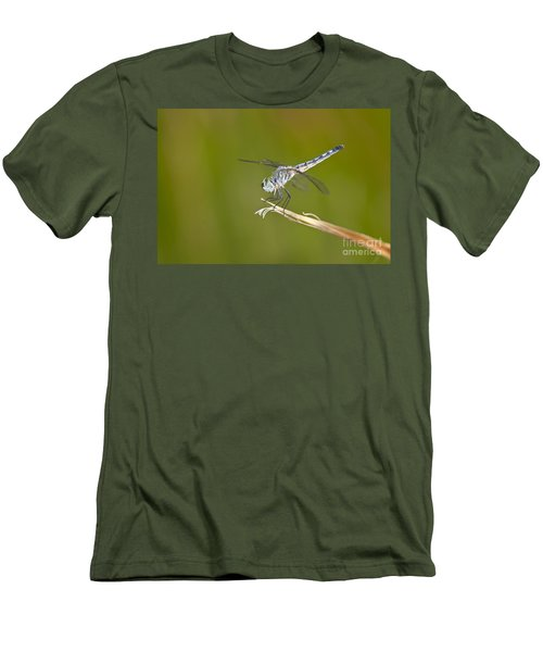Men's T-Shirt (Slim Fit) featuring the photograph Blue Dasher On The Edge by Bryan Keil
