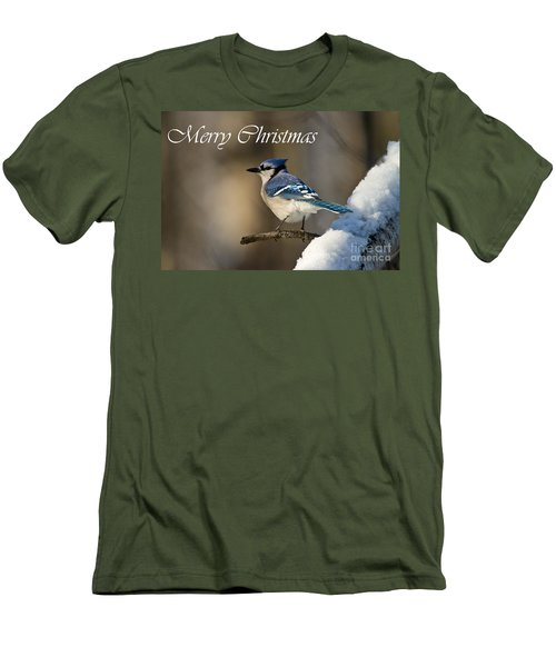 Blue Jay Christmas Card 2 Men's T-Shirt (Athletic Fit)