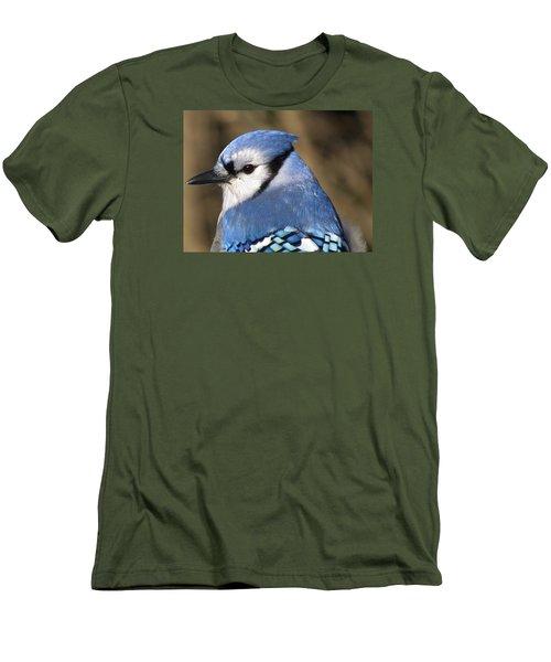 Blue Jay Profile Men's T-Shirt (Slim Fit) by MTBobbins Photography