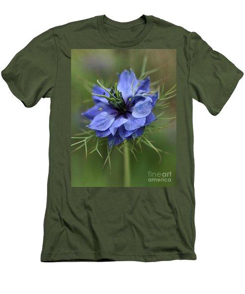 Men's T-Shirt (Slim Fit) featuring the photograph Blue Love by Joy Watson