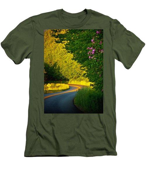 Men's T-Shirt (Slim Fit) featuring the photograph Blue Ridge Afternoon by John Haldane