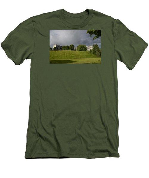 Blue Visions 3 Men's T-Shirt (Slim Fit) by Teo SITCHET-KANDA