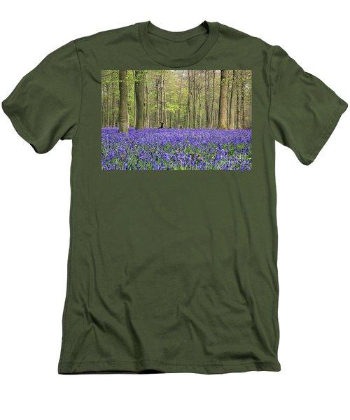 Bluebells Surrey England Uk Men's T-Shirt (Athletic Fit)