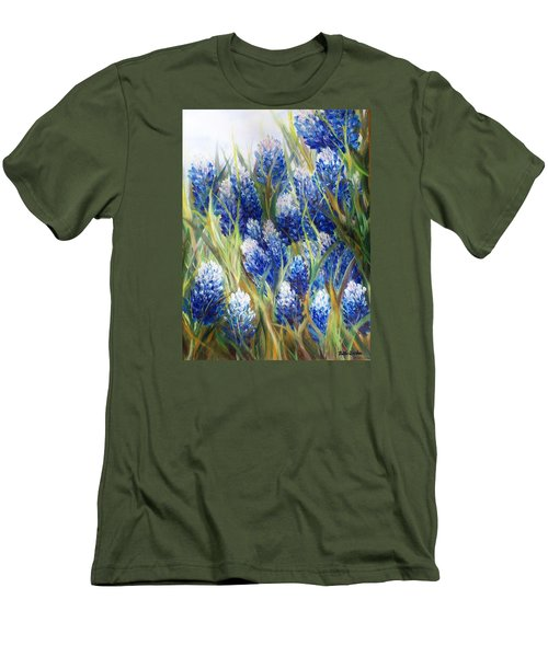 Bluebonnet Barrage  Men's T-Shirt (Slim Fit) by Patti Gordon