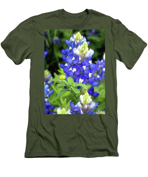 Bluebonnets Blooming Men's T-Shirt (Athletic Fit)