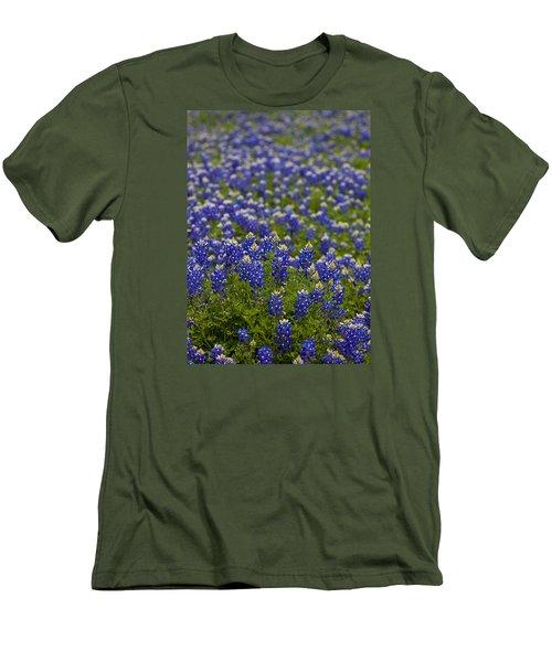 Bluebonnets Forever Men's T-Shirt (Slim Fit) by Mark Alder