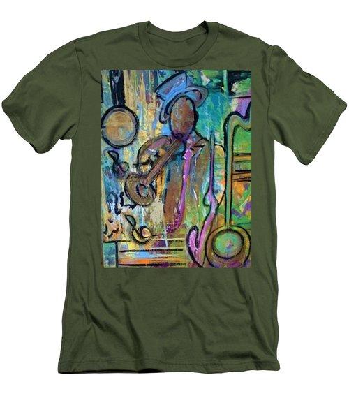 Blues Jazz Club Series Men's T-Shirt (Slim Fit) by Kelly Turner