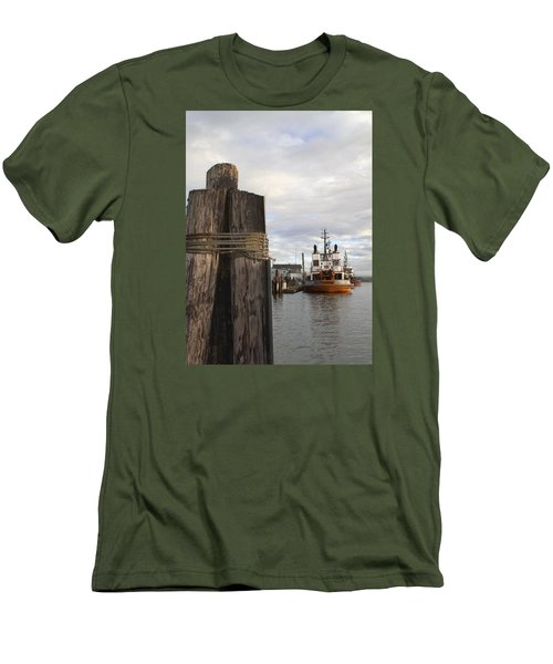 View From The Pilings Men's T-Shirt (Slim Fit) by Suzy Piatt