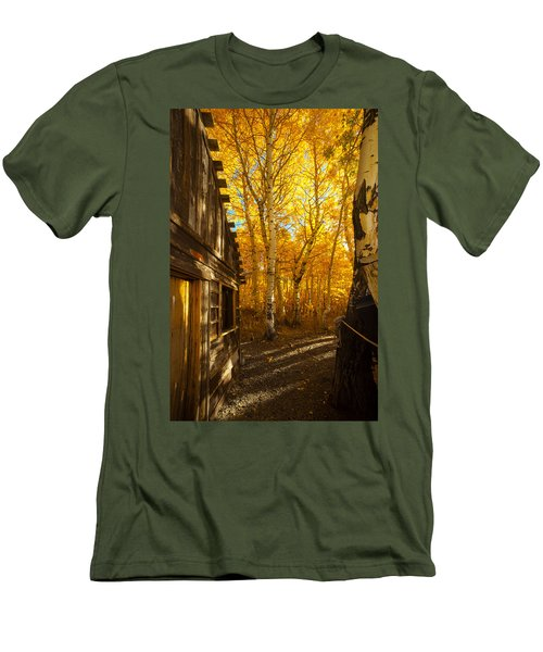 Boat House Among The Autumn Leaves  Men's T-Shirt (Athletic Fit)