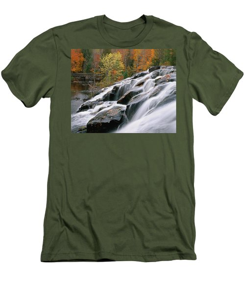 Bond Falls Upper Peninsula Michigan Men's T-Shirt (Athletic Fit)