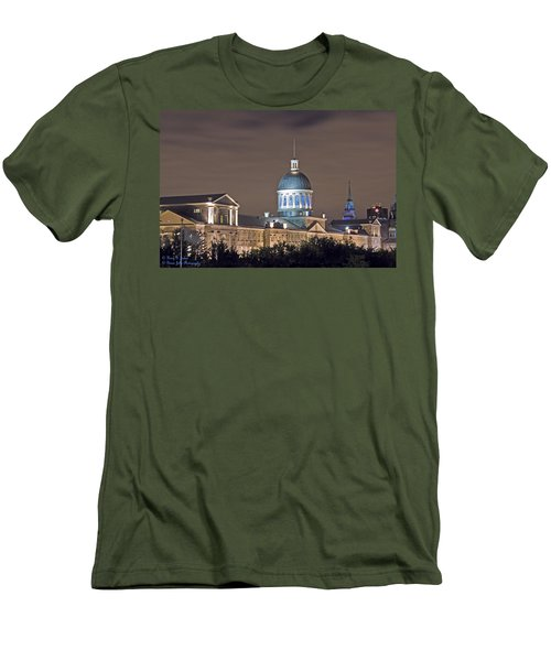 Bonsecours At Night Men's T-Shirt (Athletic Fit)