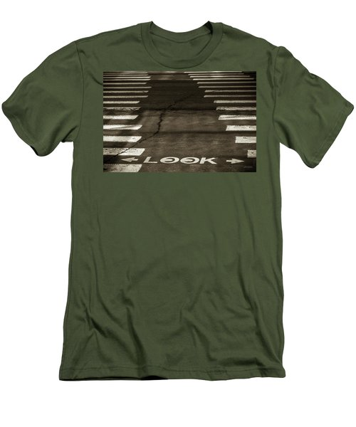 Men's T-Shirt (Slim Fit) featuring the photograph Both Ways - Urban Abstracts by Steven Milner