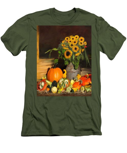 Bountiful Harvest - Floral Painting Men's T-Shirt (Athletic Fit)