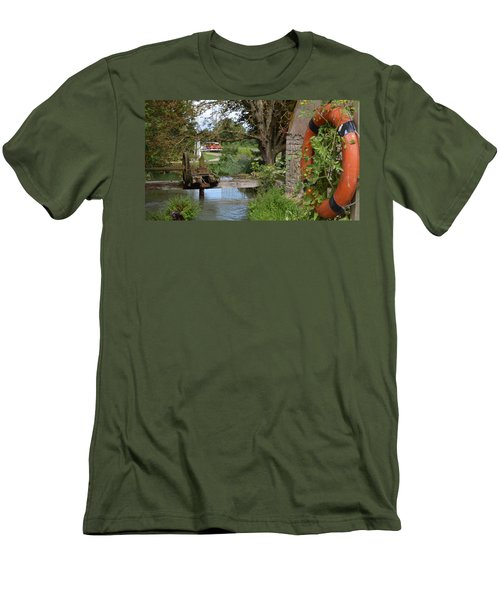 Bouy By Canal Men's T-Shirt (Slim Fit) by Cheryl Miller