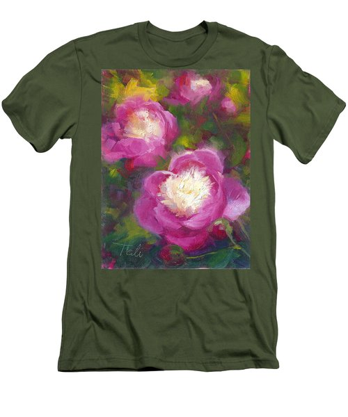 Bowls Of Beauty - Alaskan Peonies Men's T-Shirt (Athletic Fit)