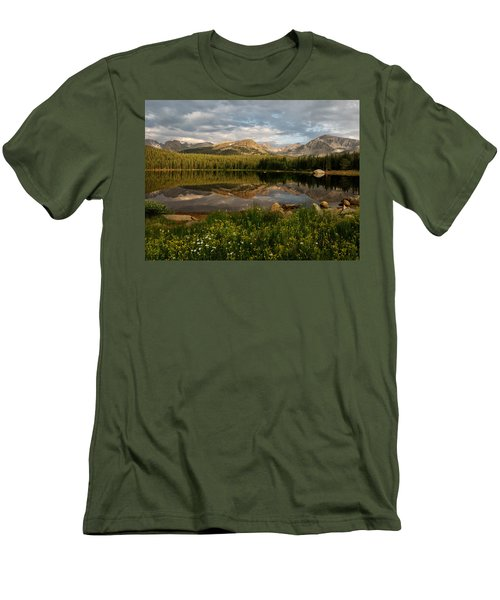 Men's T-Shirt (Slim Fit) featuring the photograph Brainard Lake by Ronda Kimbrow
