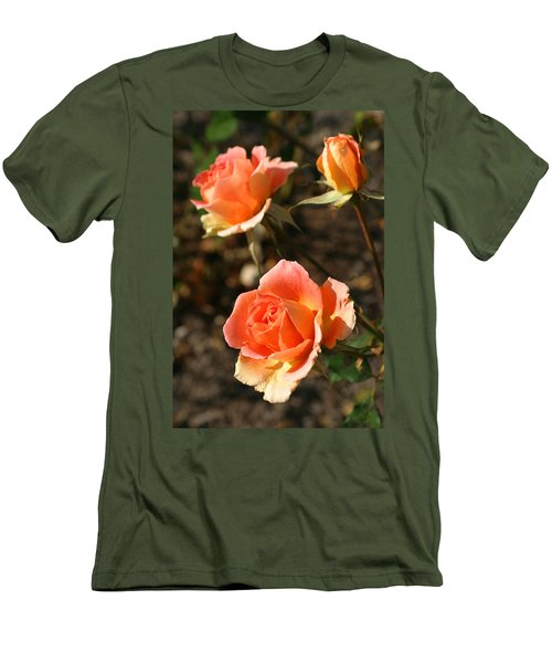 Brass Band Roses In Autumn Men's T-Shirt (Athletic Fit)