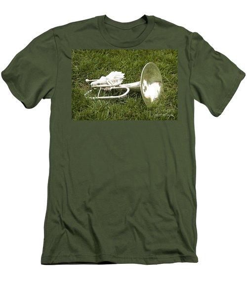Brass In Grass Men's T-Shirt (Slim Fit) by Carol Lynn Coronios