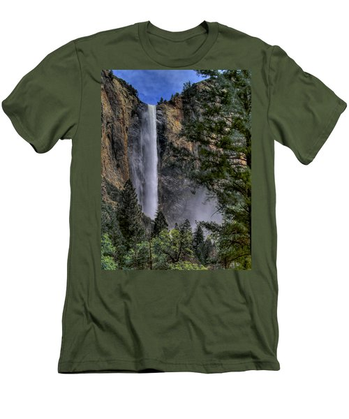 Bridalveil Falls Men's T-Shirt (Slim Fit) by Bill Gallagher
