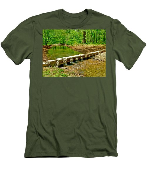 Bridge Across Colbert Creek At Mile 330 Of Natchez Trace Parkway-alabama Men's T-Shirt (Athletic Fit)