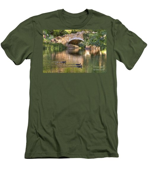Men's T-Shirt (Slim Fit) featuring the photograph Bridge At Stow Lake by Kate Brown