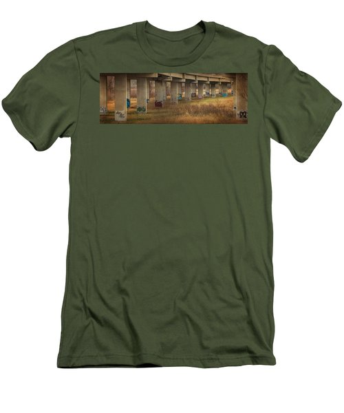 Men's T-Shirt (Slim Fit) featuring the photograph Bridge Graffiti by Patti Deters