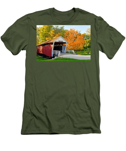 Bridge Of Madison County Men's T-Shirt (Slim Fit) by Sennie Pierson