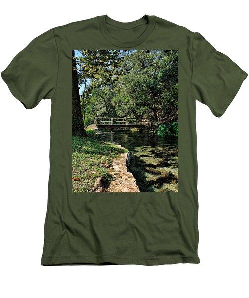 Bridge Of Serenity Men's T-Shirt (Slim Fit) by Judy Vincent