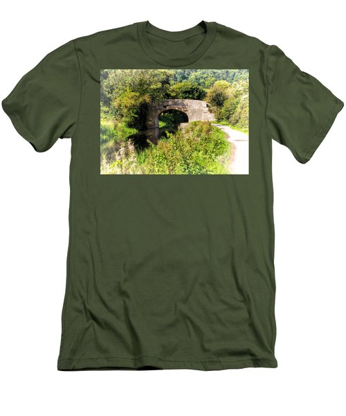 Bridge Over Still Waters Men's T-Shirt (Athletic Fit)